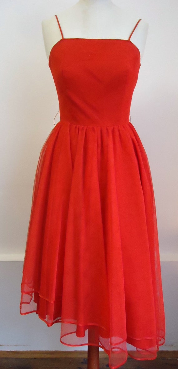 Vintage tulle dress 80s
