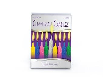 Chanukah Candles, Hanukkah Candles, Candles, Chanukah, 8 Days, Menorah Candles, Festival of Light, Hanukkah, Multi Coloured