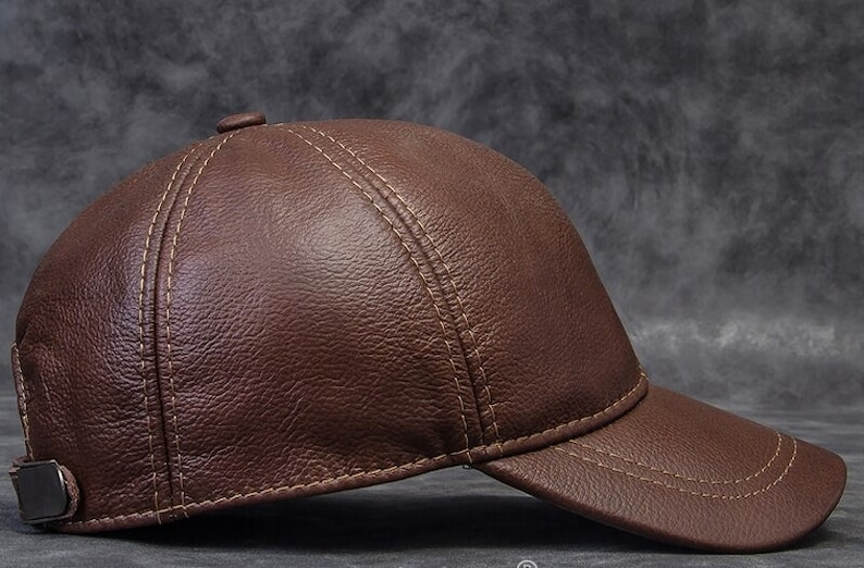 Cowhide Leather Baseball Hats For Men