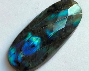 Ruvishing-Hemimorphite cabochon loose gemstone   Hemimorphite  Oval  shape top quality handmade 44 cts  size 48x20x3 # 1874