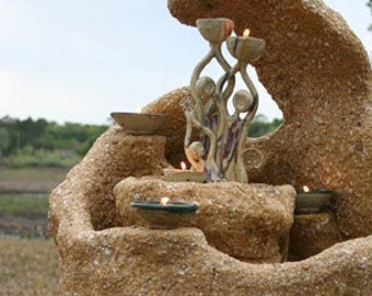 The Wave Coquina Fountain