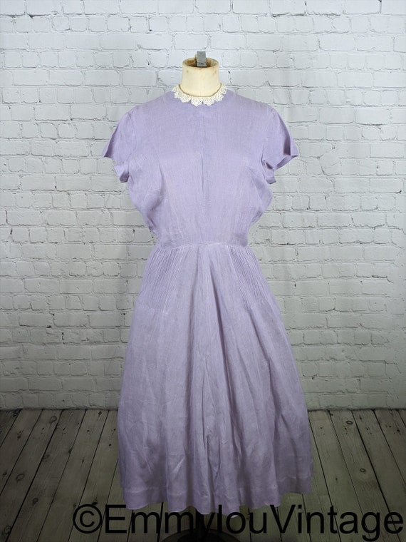 Lavender Handmade 1950s Dolman Sleeve Dress