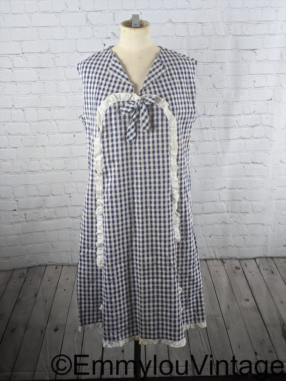 1960s Gingham House Dress