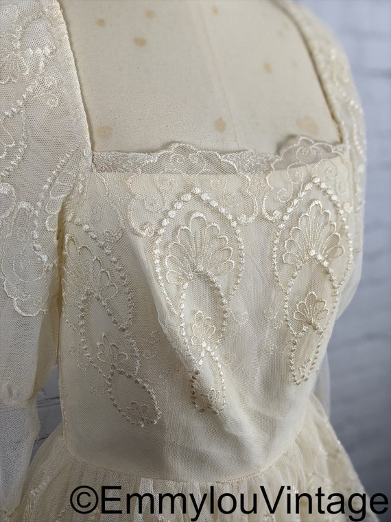 70s/80s Does Edwardian White Lace Dress