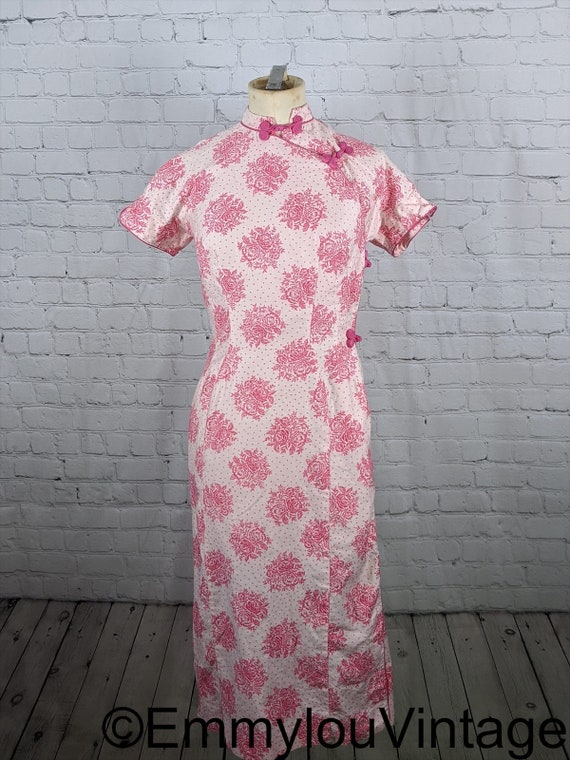 Adorable Pink 1950s Cheongsam