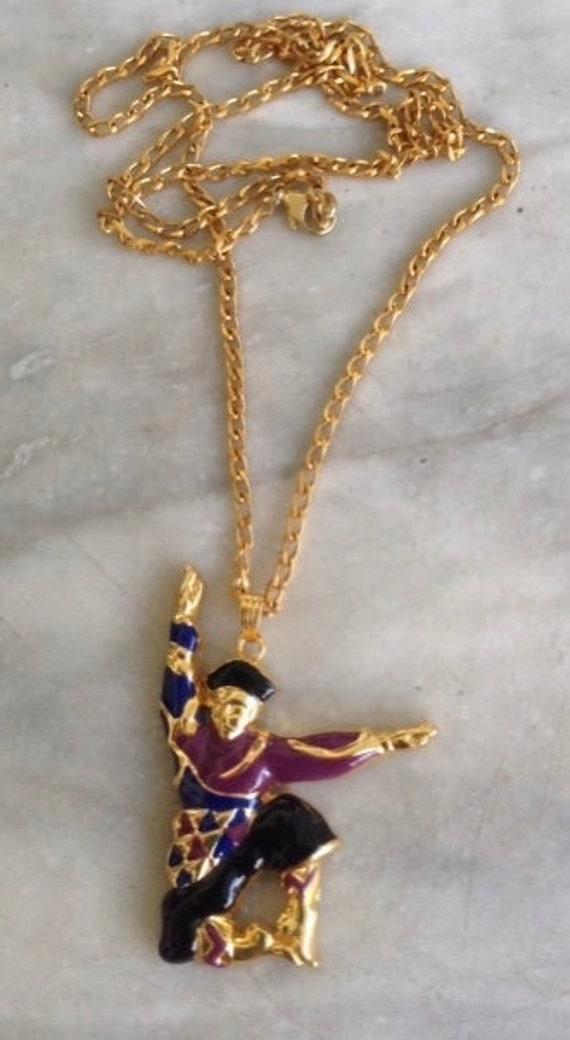 Louis Feraud Cossack Dancer pendant on chain