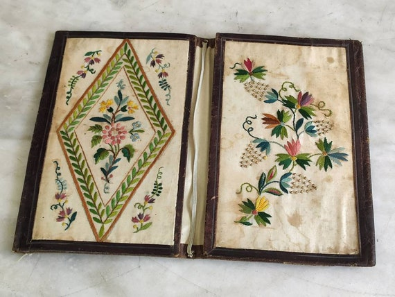Beautiful late 18th century leather card case.
