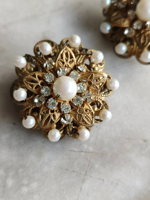 Miriam Haskell earclips.