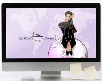 The World is Yours - MAC Wallpaper - Zoom Background - Desktop Wallpaper