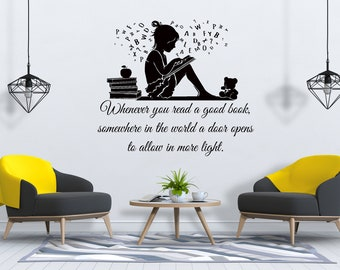 Classroom wall decal Kids room wall decal Reading nook wall decor Multicolored Read Decal Read wall decal Custom color decal