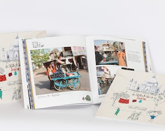 Harriet Riddell 'India Book' InStitchYou, A Journey around India with a Sewing Machine making Art on the streets