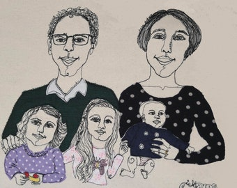 5 Person Stitched Portrait, Created live over a Zoom call