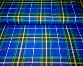 Nova Scotia Plaid Fabric By YARD, Nova Scotia tartan plaid fabric Blue Black Plaid Fabric Stronger together Plaid Fabric TTartans