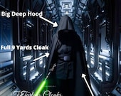 Star Wars Luke Skywalker Jedi Knight Cloak, Full Circle Black Cloak, Hooded Cloak, Cosplay Cloak
