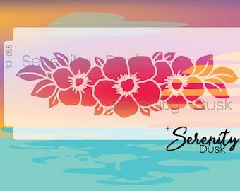 Hibiscus Flower Lei Stencil, Garden Stencil, Flower Lei Reusable Stencil, Flower Stencil, Wall Decor Stencil, Home Decor Stencil, SD1055