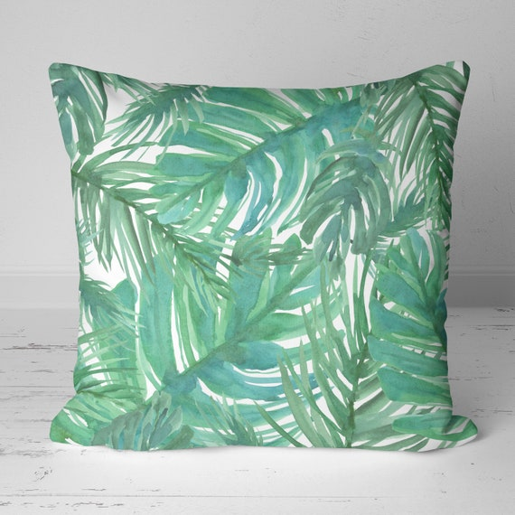 Tropical Leaves Outdoor Pillows, Making Outdoor Throw Pillows