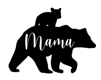 Silhouette Files NA10 Mama Bear SVG Cricut Files SVG Sign Decor Vinyl Cut file Bear Monogram SVG Bear Silhouette