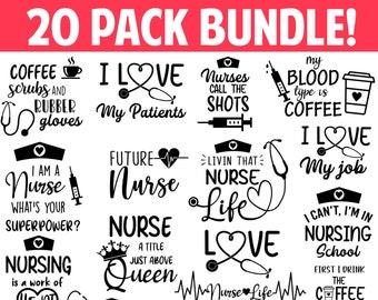 Nurse SVG Bundle, Nurse Quotes SVG, Doctor Svg, Nurse Superhero, Nurse Svg Heart, Nurse Life, Stethoscope, Cut Files For Cricut, Silhouette