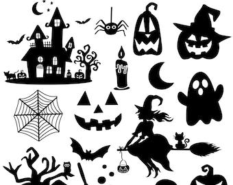 Halloween SVG Bundle, Halloween SVG, Fall Svg, Autumn Svg, Ghost Svg, Witch svg, Pumpkin Svg, Quotes, Cut File Cricut, Silhouette