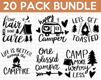 Camping SVG Bundle, Camping Hoodie SVG, Camping Life svg, Happy Camper svg, Camping Shirt svg, Hiking svg, Cut Files for Cricut, Silhouette