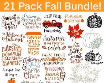 Fall SVG, Fall SVG Bundle, Autumn Svg, Thanksgiving Svg, Fall Svg Designs, Fall Sign, Autumn Bundle Svg, Cut File Cricut, Silhouette, PNG