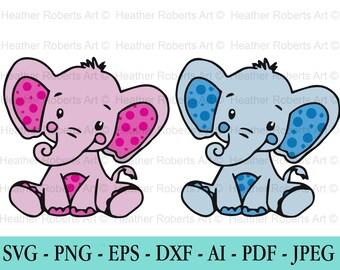 png svg files for cricut svg files for silhouette Nursery SVG Bundle Elephant cut file eps svg Elephant SVG Bundle baby clipart dxf