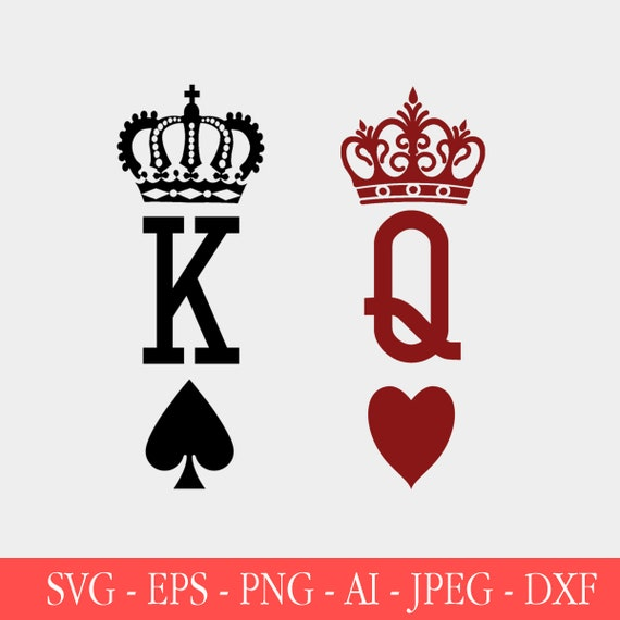 Cards Silhouette svg dxf eps png jpg Ace King SVG Cards Vector Cards Cut File Cards SVG King of Hearts svg Cards Clipart Cards Cricut