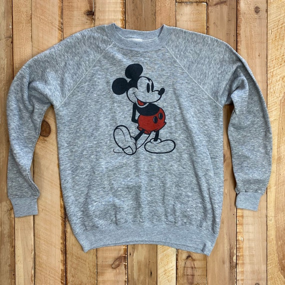 Vintage Mickey Mouse Sweatshirt, 1980's Disney, He