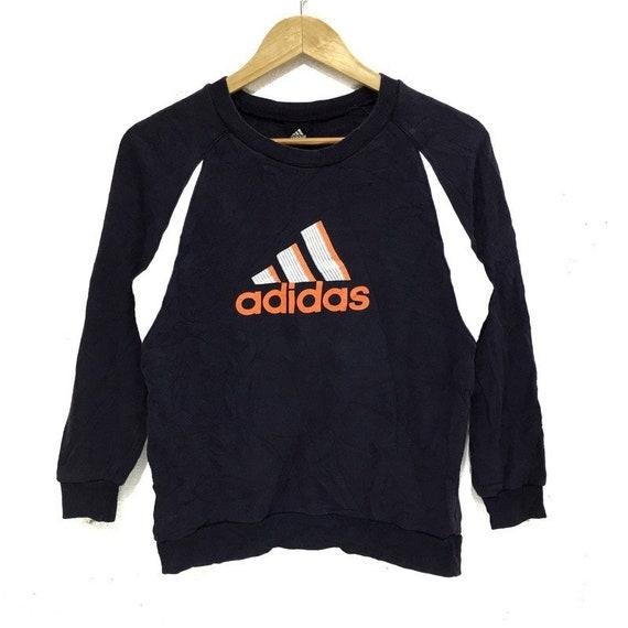 ADIDAS Sweatshirt Big Logo Spell Out Pullover Jump