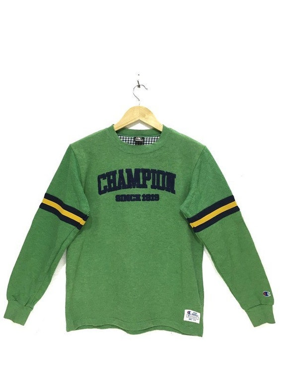 Vtg CHAMPION PRODUCTS Green Athletic Ringer Sweats