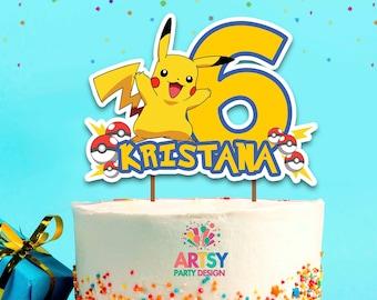 Swell Pokemon Cake Topper Etsy Funny Birthday Cards Online Eattedamsfinfo