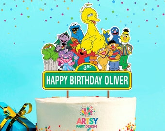 Phenomenal Sesame Street Cake Etsy Personalised Birthday Cards Petedlily Jamesorg