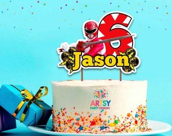 Surprising Power Rangers Cake Topper Etsy Funny Birthday Cards Online Alyptdamsfinfo