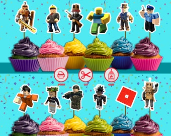 Roblox Cake Toppers Etsy