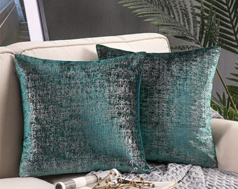 Pillows Pillow Covers Teal Chocolate