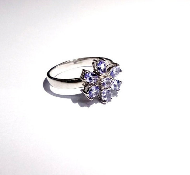 Natural Tanzanite Gemstone Fine Quality Tanzanite Gemstone Sterling Silver 925 Stamped Ring