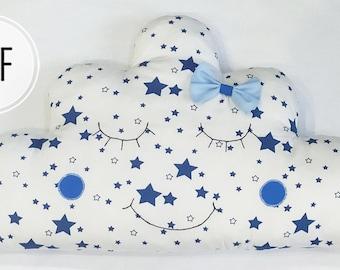 Pillow cloud in bed pattern DIY, Crib Bumper Pattern, Easy to Make, pdf, bumper in crib animal, animals bumper for baby, cloud pillow pdf