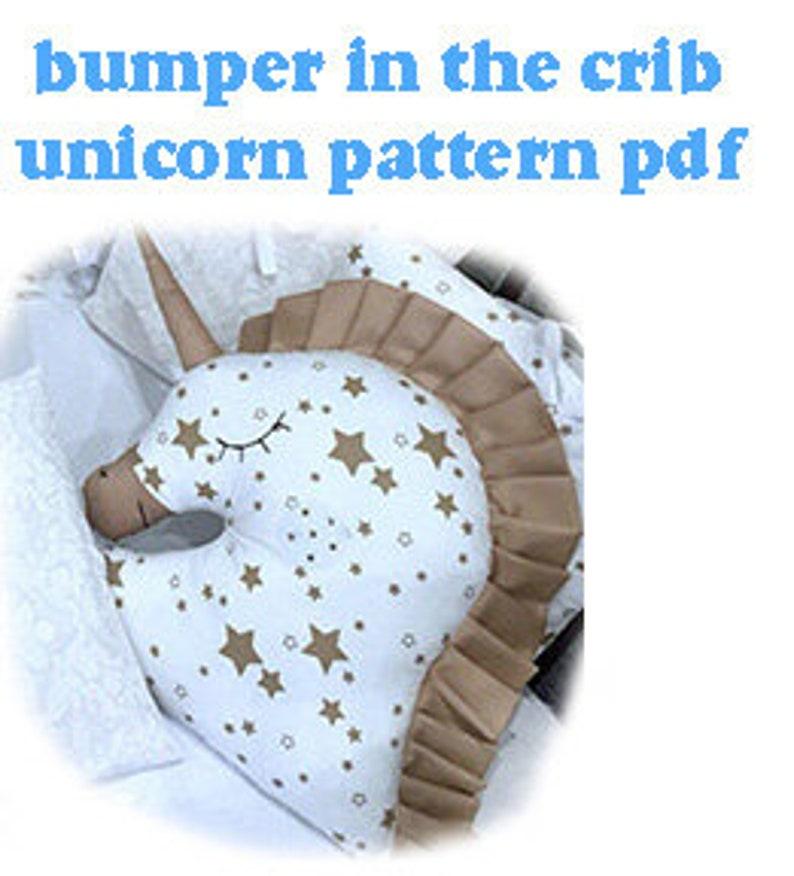 DIY Unicorn pillow Crib Bumper PatternEasy to Make pdf image 0