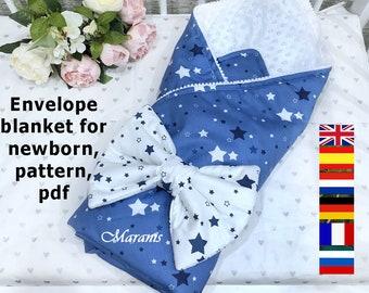 Envelope for discharge diy, pattern, Envelope for a newborn pdf, The blanket envelope 2 in1 pattern, envelope transformer for newborns