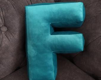 Letter pillow F velvet/Pillow F/letter cushion F/Cushion F/Letter pillows/Home and Living Décor Letter Pillow f/Gift For Child/sofa pillow