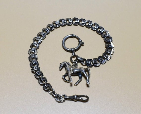 Pocket watch chain, vintage pocket watch chain, Ju