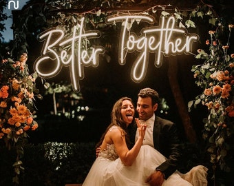 Customize Wedding Neon Sign   LED Neon Sign, Custom Wedding Sign, Wedding Decor, Wedding Ceremony, Personalized Sign, Wall Decor