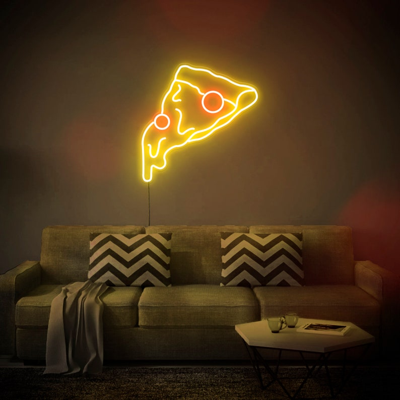 Pizza Slice  LED Neon Sign Wall Decor Wall Sign Neon image 0