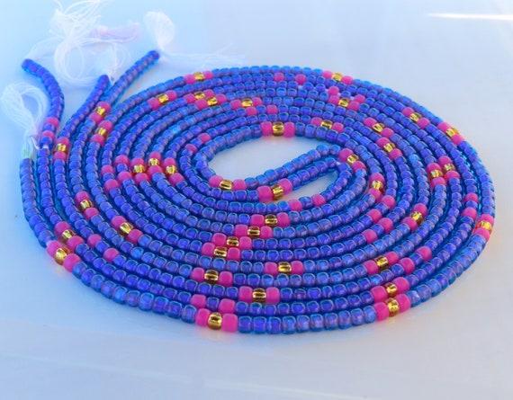 African Waist Beads Pink Waist Beads Waist Beads For Weight Loss Tie On Waist Beads Belly Beads
