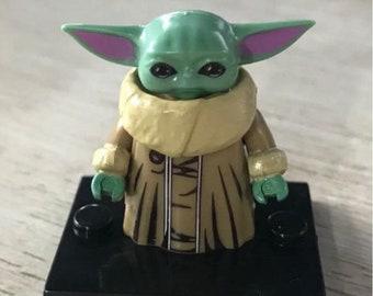 Baby Yoda Golden Robe Custom Mini Figure Compatible With Popular Brick Toy Mandalorian The Baby Star Wars
