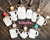 Handmade Rae Dunn Inspired Mini Clay Ornaments