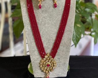 Genuine Polki  Pendant Necklace Adjustable  Vintage Necklace, Diamond Polki necklace Black Oxidized Necklace polki beads necklace