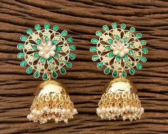 Polki JhumkasGold JhumkasBlack EarringsJhumkisJhumka EarringsIndian JewelryPakistani JewelryBollywood JewelryPunjabi Jewelry