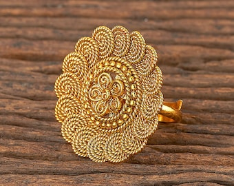 Party Wear Ring  J145 Indian Ring Brass Ring  Adjustable Ring  Statement Ring  Bollywood Ring