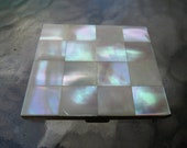 Mother of Pearl Powder Compact - MOP Mirror Compact - Unmarked - As Found at the Market